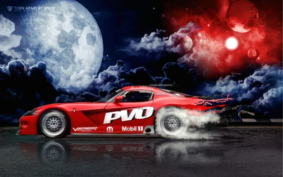 Dodge Viper Torn Apart By Speed by wellgraphic