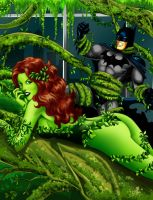 Poison Ivy and Batman by harrybognot