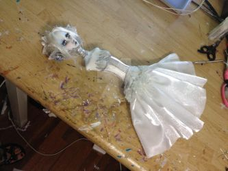 Snow queen art doll WiP by cliodnafae27