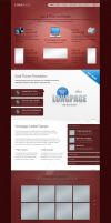 Longpage Wordpress Theme - RED Skin by ait-themes