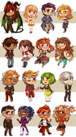 Chibi OC Gifts Collab [PMA, etc] by TeniCola