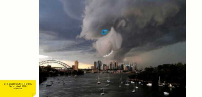 God shows me His Face in Sydney Storms March 17 by Differance7