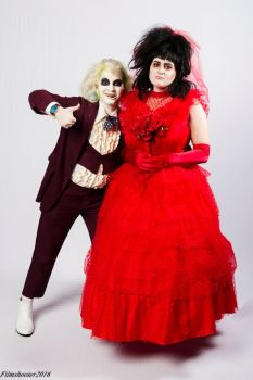 Beetlejuice and Lydia by Sock-Monkey-Renegade