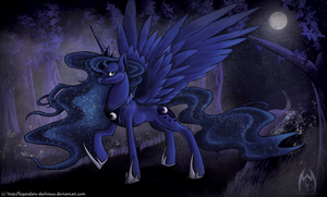 Luna-Through the Forest by Legendary-Darkness