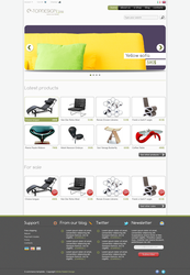 E-commerce layout by kekkorider