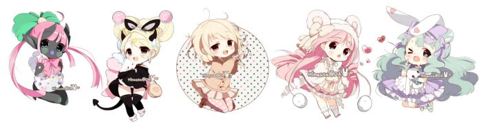 Chibi Commissions by Hinausa