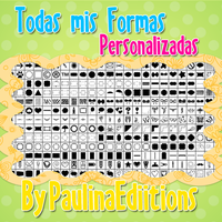 Todas mis Formas Personalizadas para PhotoShop by PauLinaEdiitions