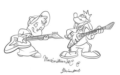 Alvin and Max Guitars Inked by ReeseRiverson