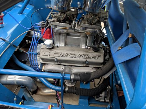 A 327 installed mid-engine in a Corvair by Caveman1a