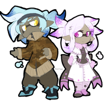 Splatoon refs: Robo + Sugar by Veonara
