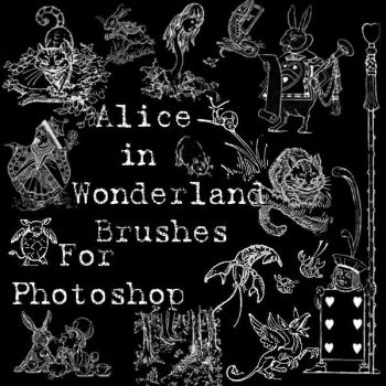 Alice in Wonderland Brushes by BohemianResources