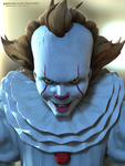It's Pennywise - Face by bbmbbf