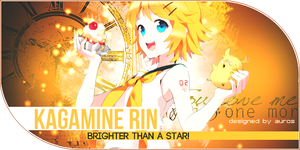 Kagamine Rin - Brighter than a star ! by nonmagicalboy