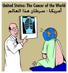 USA the cancer of the world by Latuff2