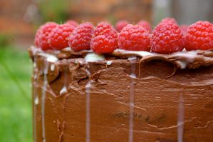 Finished Chocolate Rum Cake by chiziwhiteafrican