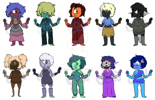 [OPEN] Sapphire Adopts! [PAYPAL/POINTS] by qrave-digger