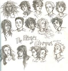 the Heroes of Olympus by burdge