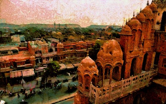 Jaipur Cityscape by montag451