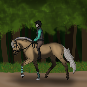 Forest Dressage by Brippaty