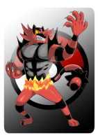 Incineroar. by Serpentkingsaul2