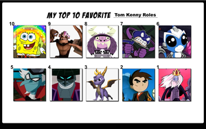 Top 10 Favorite Tom Kenny Roles by FlameKnight219