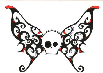 Skull and Wings by Metal-Psycho