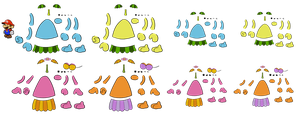 Piantas DISASSEMBLED (Paper Mario) by DerekminyA