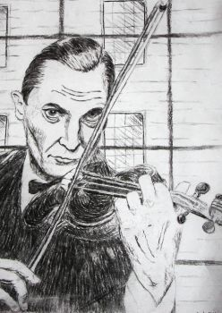 Holmes and his Violin by silentsilvertongue