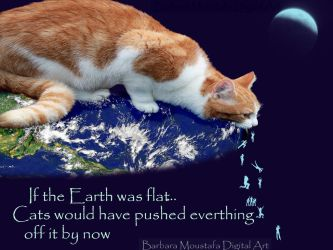 Flat Earth theory...and cats by rustymermaid