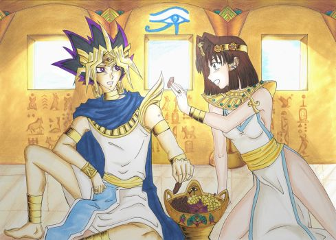 Atem and Anzu by Lhisi