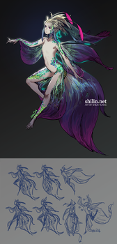 Mermaid - design for patreon by shilin