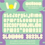 blowing bubble font by weknow by weknow