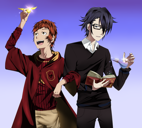 Hogwarts AU by Gurvana