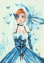 The Lady in Blue by luckynesu