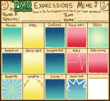 PMD-Explorers Expressions Meme Template