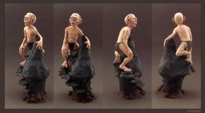 GOLLUM - Polymer Clay Sculpture by buzhandmade