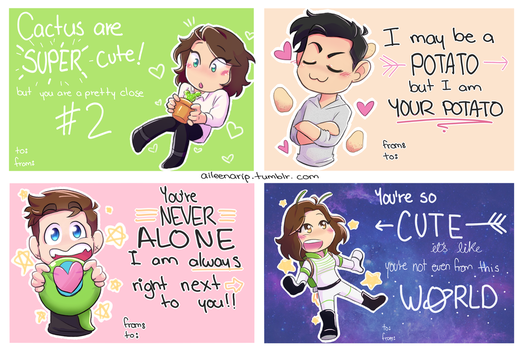Youtube Valentine's 2018 cards !! by aileenarip