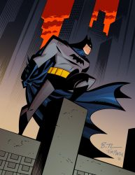 Bruce Timm Batman by TomMartinArt