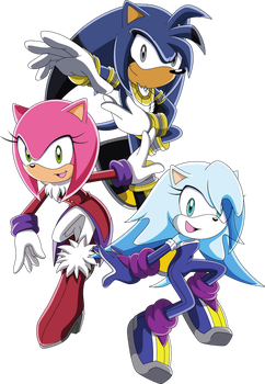 Art Trade - Ares, Seeri and Allure the Hedgehogs by Noble-Maiden