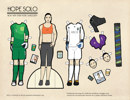 Hope Solo Paper Dolls Olympic Edition by hercircumstance