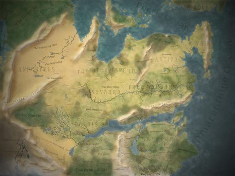Thedas World Map [Dragon Age] by DwarfChieftain