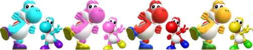 Yoshi (Species) Yoshi Story Adult and Baby by Banjo2015