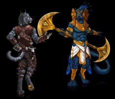Shald/Absaroke-collab commission- by RogueLiger