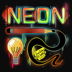 Ink/Goretober Day #2 - Neon by Cootsik
