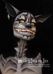Cheshire Cat - Alice Madness Returns Body Paint by MadeULookbylex