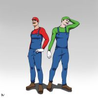 Mario Bros by Ross-Vlixes