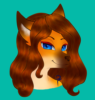 Foxy Girl - Teal by CrystalMysteria
