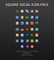 Square Social Icon Pack by BenSow