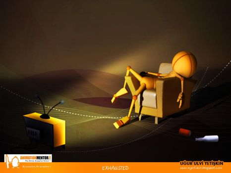 Anim.Mentor Exhausted Pose by pixi-ugur