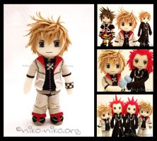 KH2- Twilight Town Roxas Plush by momoiro-machiko